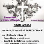 Mercoledì delle Ceneri 2021 Parrocchia di Orbassano