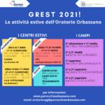 GREST 2021: ecco le attività estive dell'Oratorio Orbassano!